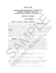 surety bond form fillable online alabama mortgage broker bond form surety bond fax