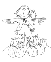 Small Picture Cute Halloween Scarecrow Coloring Pages Womanmatecom