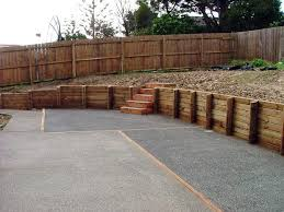 wood retaining wall wood timber retaining wall ideas wood