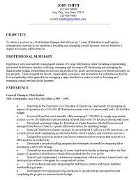 Resume Objective Hospitality Shalomhouse With Management Objectives