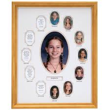 school years collage frame beige