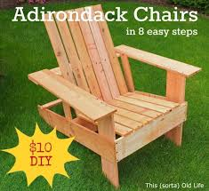 easy economical diy adirondack chairs 10 8 steps 2 hours outdoor furniture outdoor living painted furniture full steps at