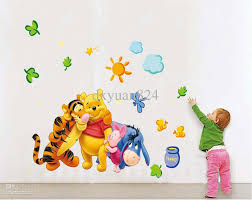 lovely 2016 new removable wall stickers my friends tigger and winnie the pooh kids baby room