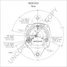 mda2932 alternator product details prestolite leece neville mda2932 rear dim drawing