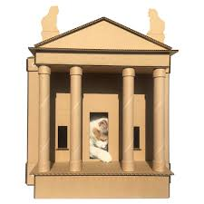 Cardboard House For Cats Dr Who Tardis Cardboard Cat Houseunique Cat Furniture Cat