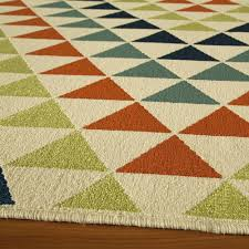 baja multi color triangles outdoor rug 6ft 7in x 9ft 6in