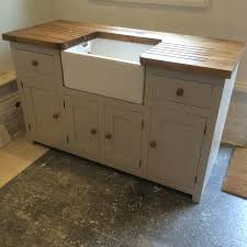free standing kitchen sink unit solid pine with and worktop in home uk