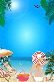 美しい夏のビーチのビーチ旅行の背景pngと背景画像psdファイルの