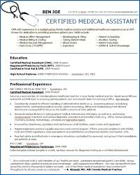Sample Resume For Medical Assistant Best Medical Field Engineer Sample Resume 48 48 Assistant Template Free