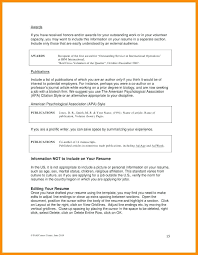 awards for resume listing publications on resume listing awards on resumes listing