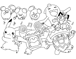 Pokémon figures are fun to color as kids can emote to their favoritecharacters. Pokemon Coloring Pages Join Your Favorite Pokemon On An Adventure