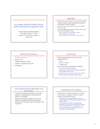 Examples Of Problem Solving Skills In Customer Service Pdf Developing Authentic Problem Solving Skills In