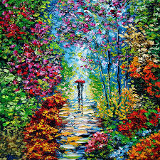 oil paining painting secret garden oil painting b sasik by beata sasik