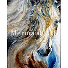 high quality hand painted animal abstract horse head oil painting canvas home decor wall living room