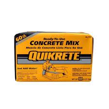 Quikrete 60 Lb Concrete Mix 110160 The Home Depot