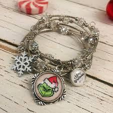 Kole Jax Designs Customer Service Grinch Wrap Bracelet With Merry Grinchmas Charm