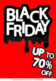 Black Friday Sale Special Offer Flyer Stock Vector Royalty