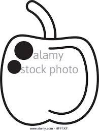apple logo outline vector. apple fruit nutrition health school outline - stock vector logo