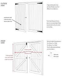 standard garage door size typical garage door size timber doors sizes standard and bespoke side hinged