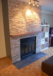 we'll update the fireplace facade using stack stone, which is mined in  Minnesota