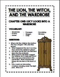 the lion the witch and the wardrobe unit study unit studies comprehension questions for each chapter of the novel answer keys readers notebooklion witch and wardrobenarnia