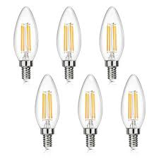 energy saving 4w led filament candle bulb could replace your cur 40 watt incandescent e12 light turning on at full brightness with 470 lumens