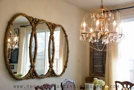 diy tutorial for restoration hardware crystal orb chandelier vintage romance style featured on remodelaholic