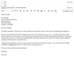 format for email cover letters email cover letter for internship