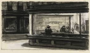 a sketch for edward hopper s painting nighthawks
