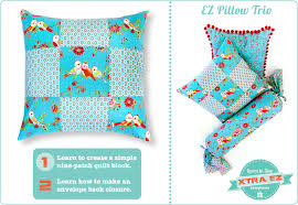 Pillow Sewing Patterns Best Xtra EZ NinePatch Pillow Learn To Sew Sew48Home
