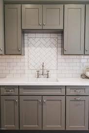 ... Backsplash Ideas, Tiled Backsplash Kitchen Backsplash Gallery White  Backsplash Tile Sink Grey Cabinet: amusing ...