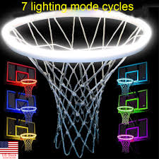 Basketball Hoop Led Light Details About Hoop Light Led Lit Basketball Rim Attachment Help You Shoot Hoop At Night Lamps