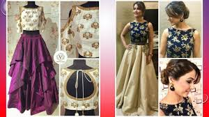 Top Designer Dresses 2018 Latest Crop Top Dress Designs 2018