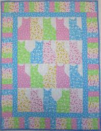 HANDMADE PATCHWORK QUILT FOR KIDS CATS & Handmade Patchwork Quilt For Kids Cats Adamdwight.com
