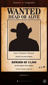 Wanted Poster Template For Pages Wanted Poster Pro On The App Store