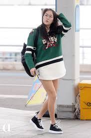 韓国ガールズアイドル達の하의실종ハイシルジョン春ファッション