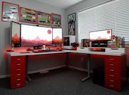 basement office setup 3. Home Office Battlestation Basement Setup 3 D