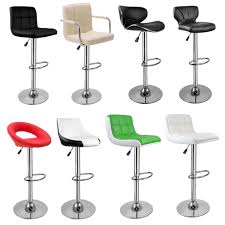 faux leather bar stools. 2 Bar Stools Faux Leather Barstool Kitchen Pub Stool Breakfast Chair UK A