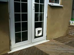 cat door for french door cat flap in glass unit install pet door in french door