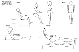 endearing eames chair dimensions with the eames chair and ottoman ergonomics and anthropometrics
