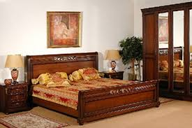 furniture color matching. wooden furniture for bedroom and orange bedding set color matching