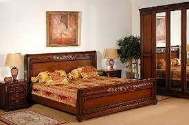 furniture color matching. wooden furniture for bedroom and orange bedding set color matching