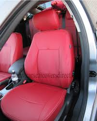 ford mondeo zetec 4th gen red leatherette seat covers