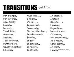 List Of Active Verbs Quick List Of Transitions And Active Verbs For Student