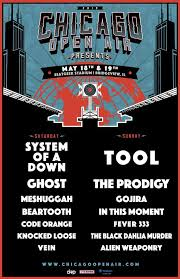 Toyota Park Seating Chart Chicago Open Air System Of A Down Tool To Headline Chicago Open Air Live Metal