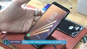 Hướng dẫn tháo ráp máy samsung A8 2018 - Huy Dũng Mobile - YouTube