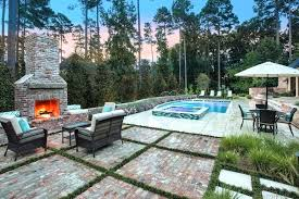 outdoor brick fireplace outdoor brick fireplace pool traditional with furniture umbrellas outdoor brick fireplace diy