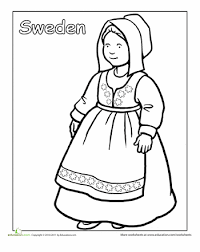 Multicultural Coloring Sweden Global Education Printables