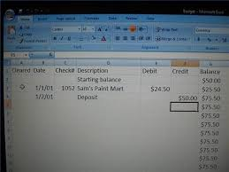 Excel Checkbook Formulas How To Create A Check Register In Excel Pocket Sense
