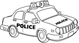 Small Picture Drawing of Police Car Coloring Page Color Luna